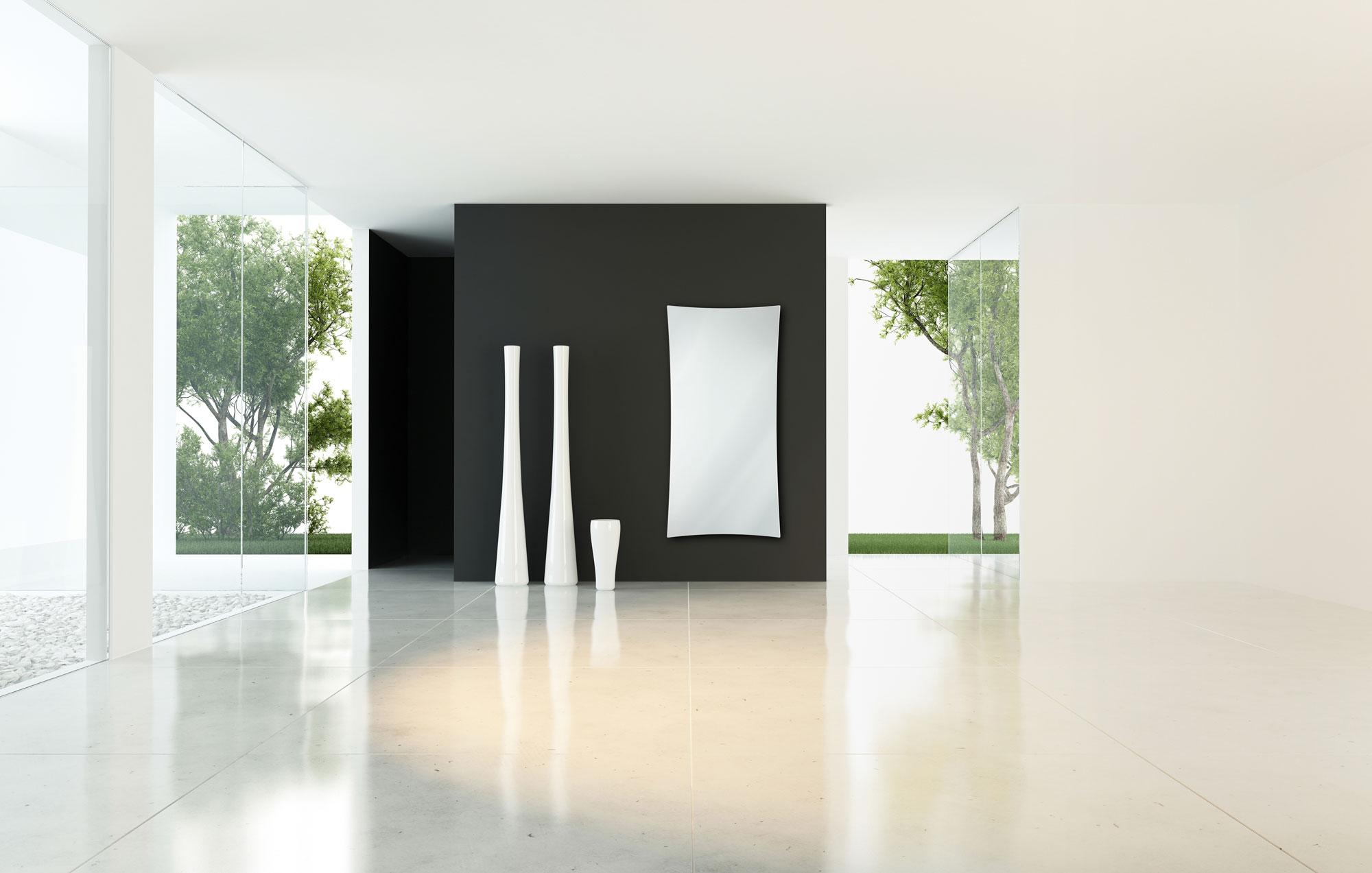 Portofino Glass Mirrored Infrared Heaters Funkyheat