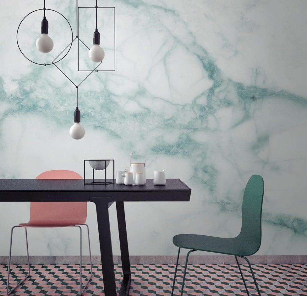 Feature wallpaper ideas feature feature wall painting for Statement kitchen wallpaper